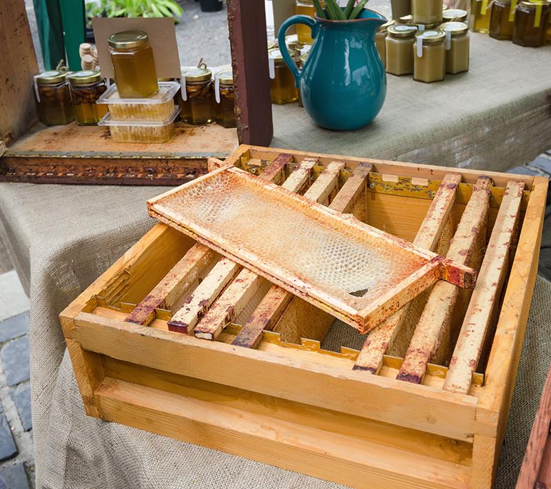 Nadstavec úľa s rámikmi a medzistienkami. Na nich si včely robia plásty so zásobami medu. Naspodku má mriežku, aby sa doň nedostala kráľovná, ale iba včely (sú menšie).