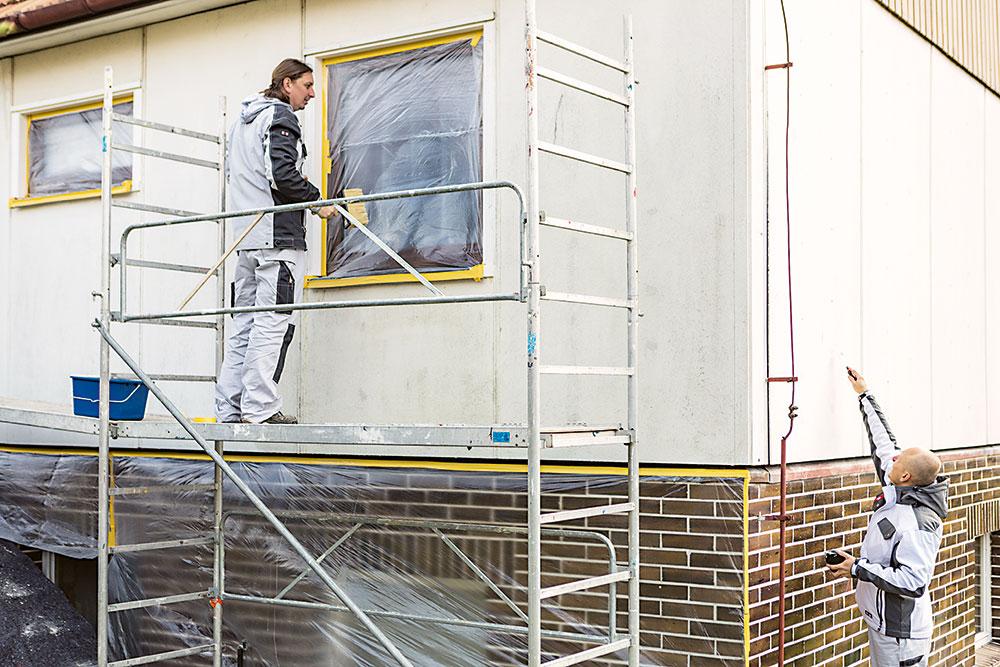 príprava fasády na náter