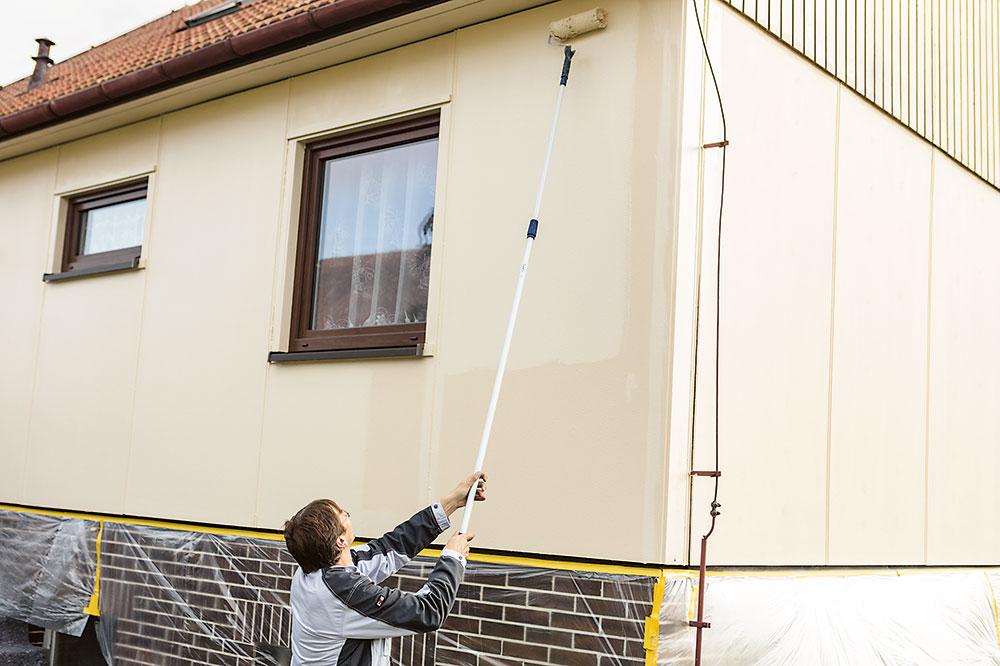 natieranie fasády