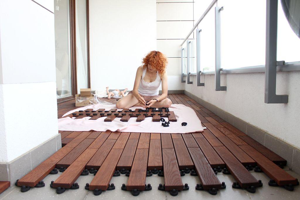 Drevená podlaha na balkón s click systémom