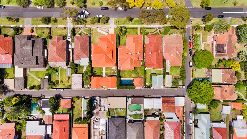 Zastavané pozemky v obci