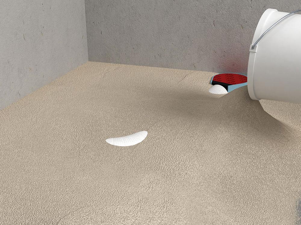 zarovnanie plochy podlahy v sprchovacom kúte