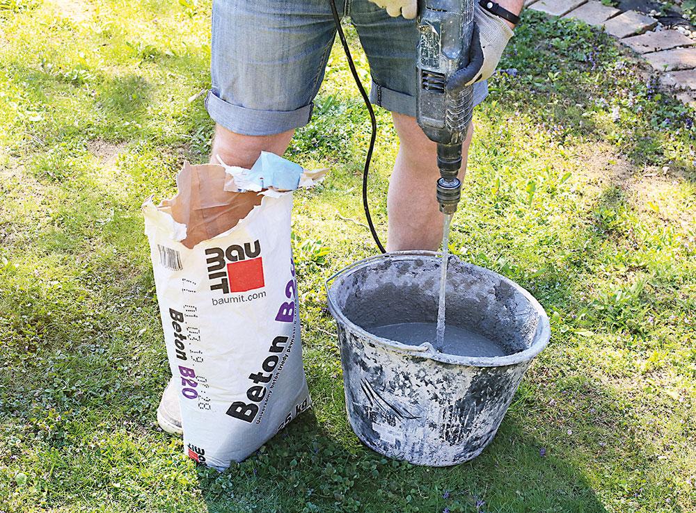 miešanie suchej betónovej zmesy