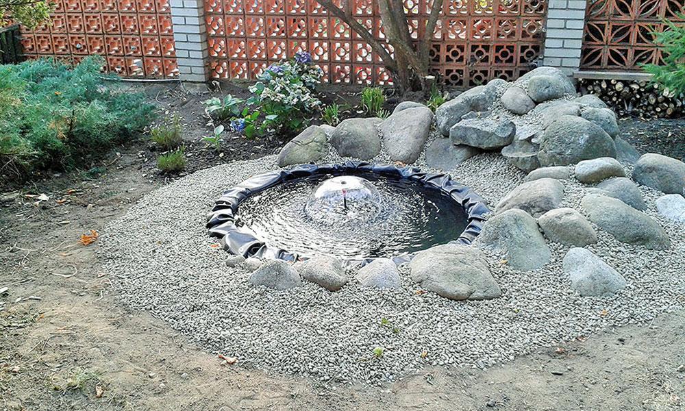 záhradné jazierko z pneumatiky