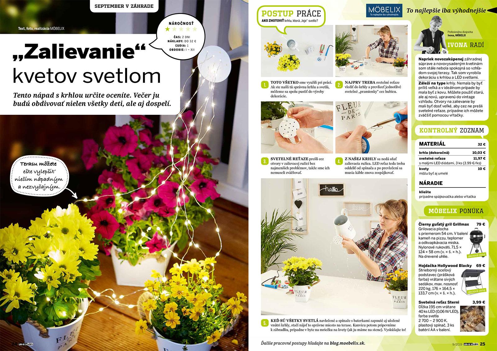 zalievanie kvetov