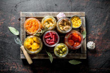 zavarané ovocie a zelenina