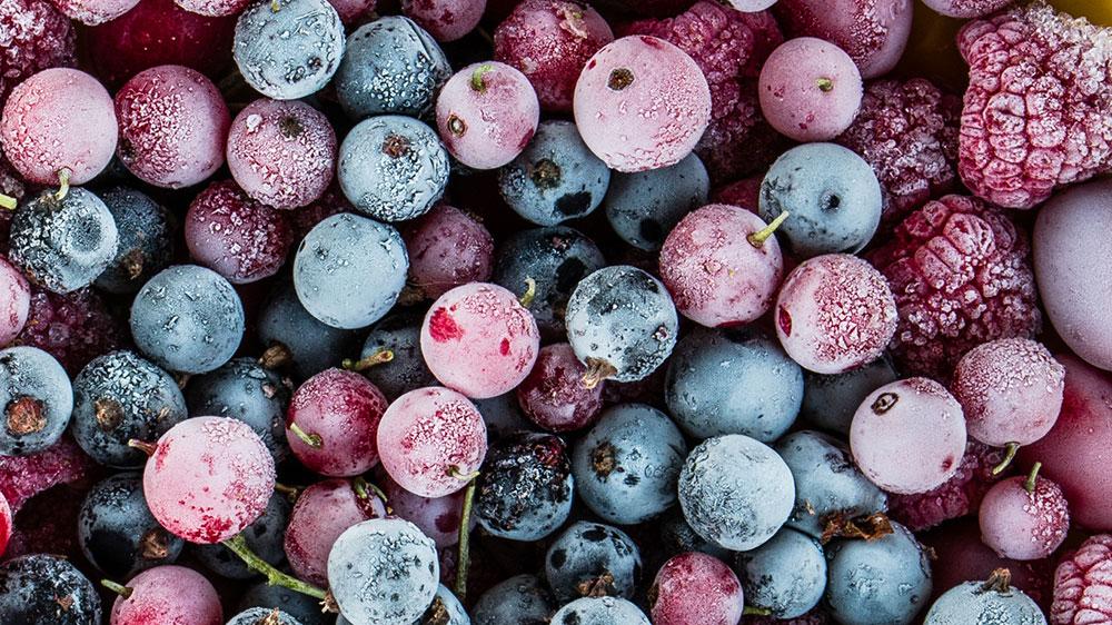 mrazené ovocie
