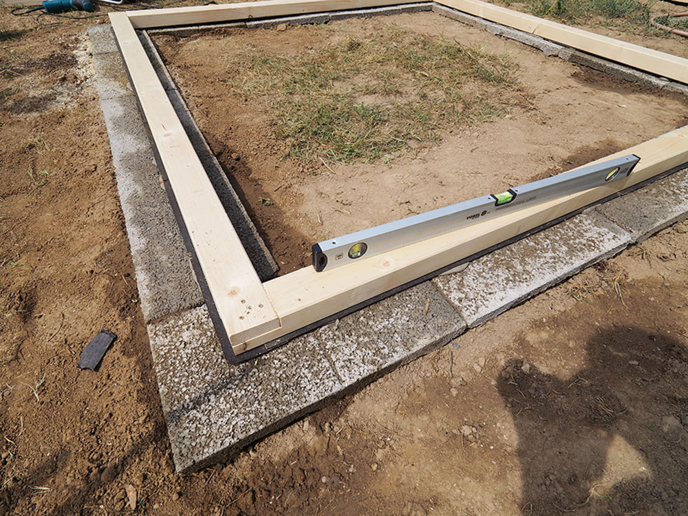základy pre stavbu skleníka