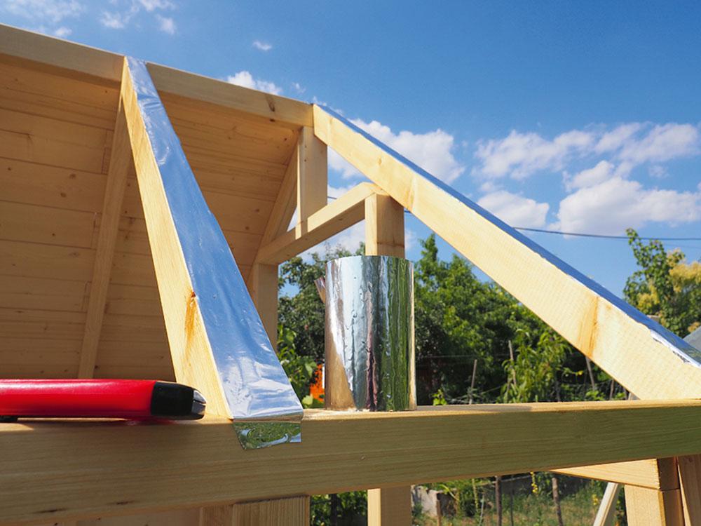 stavba strechy na skleníku