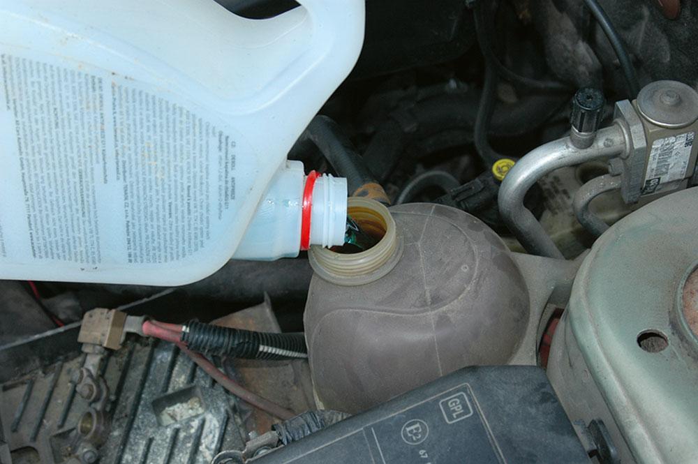 doliatie chladiacej kvapaliny