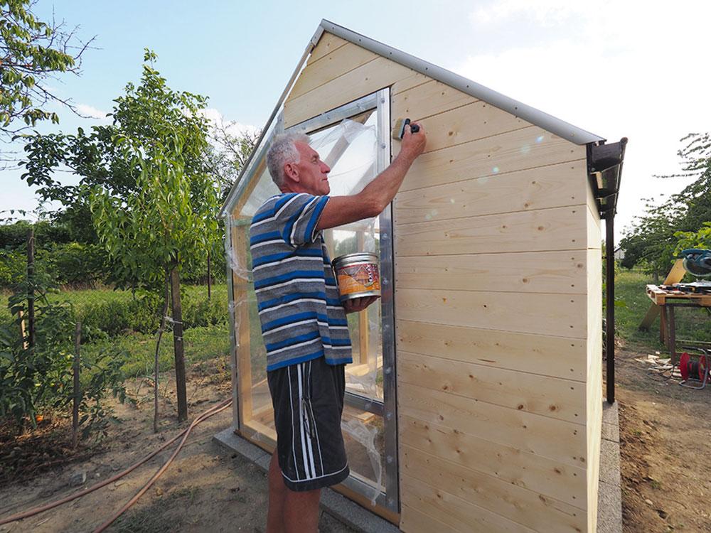 ošetrenie dreva a natieranie matným lakom