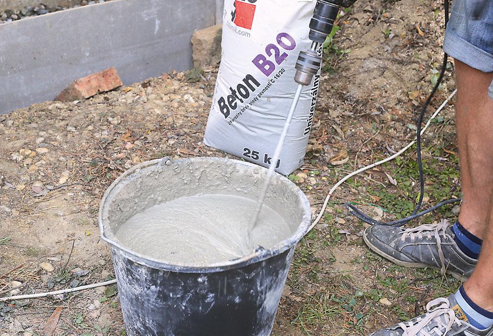 zarábanie betónovej zmese