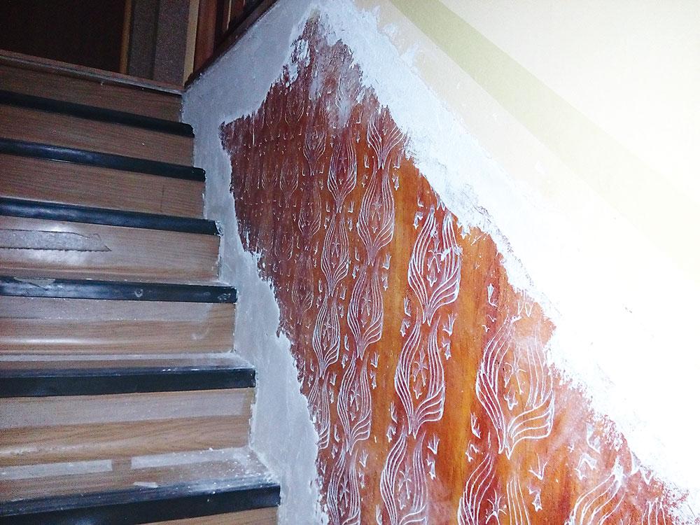 schodisko pred rekonštrukciou