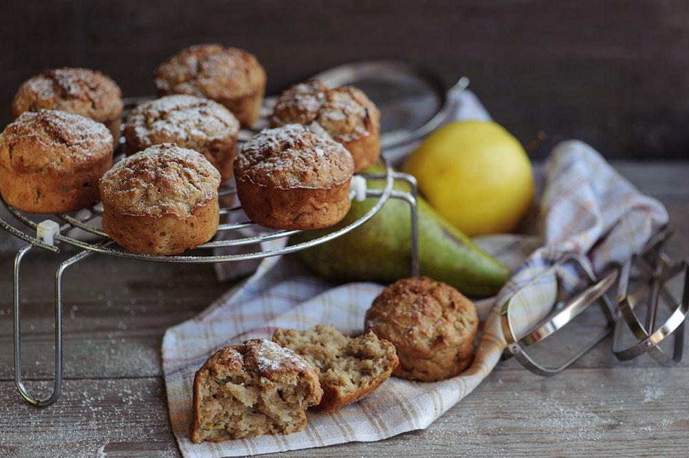 Jablkovo-hruškové muffiny