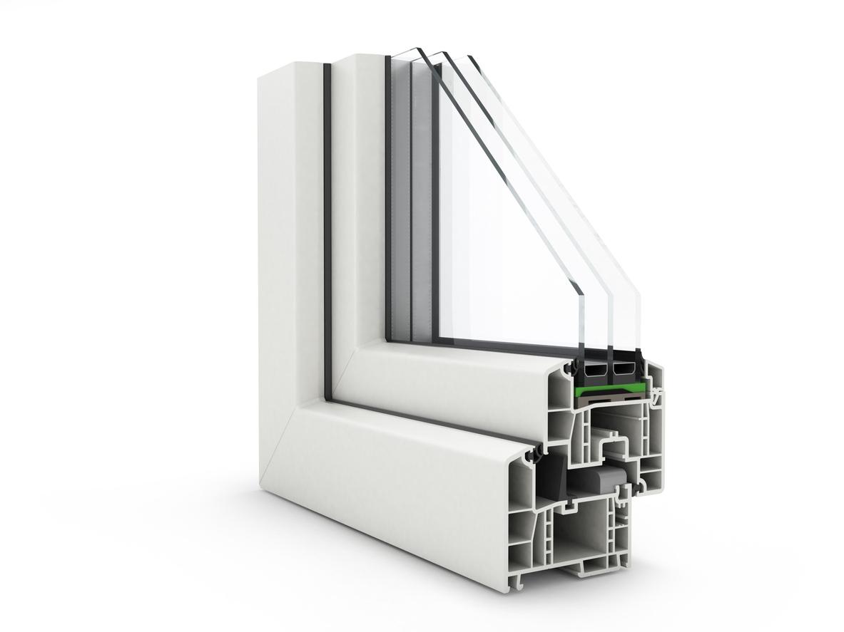 okenný profil plastový