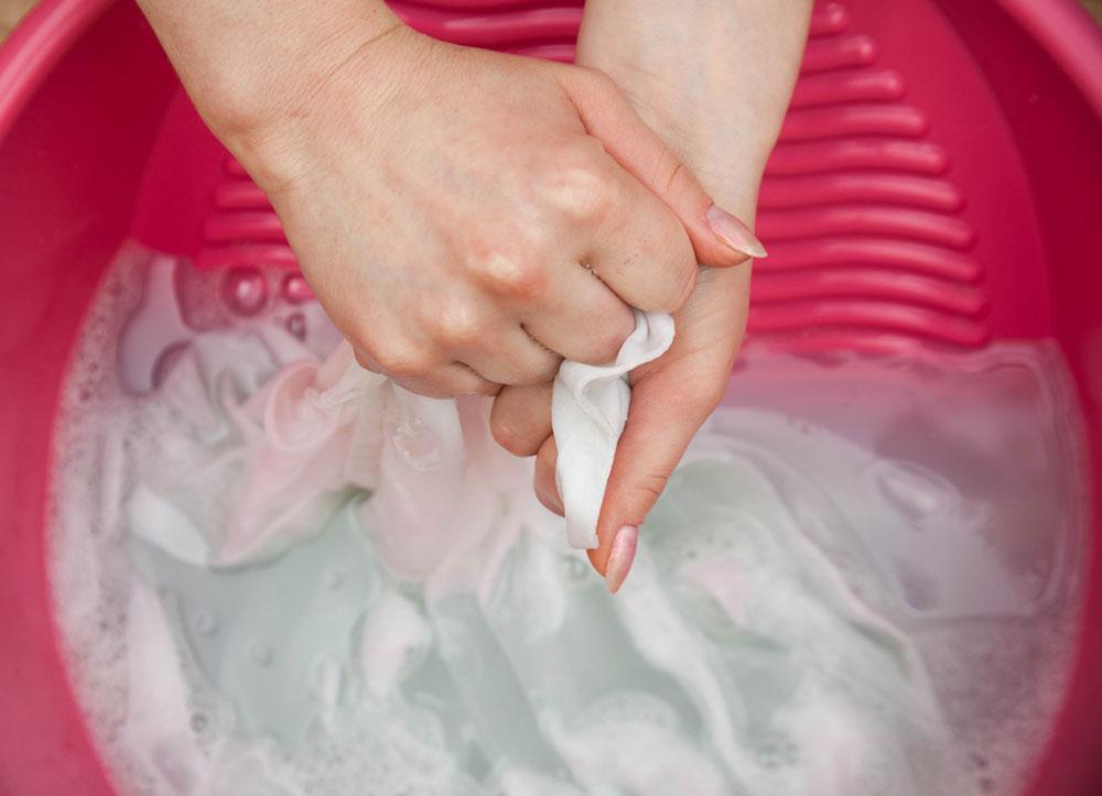 ručné pranie bielizne