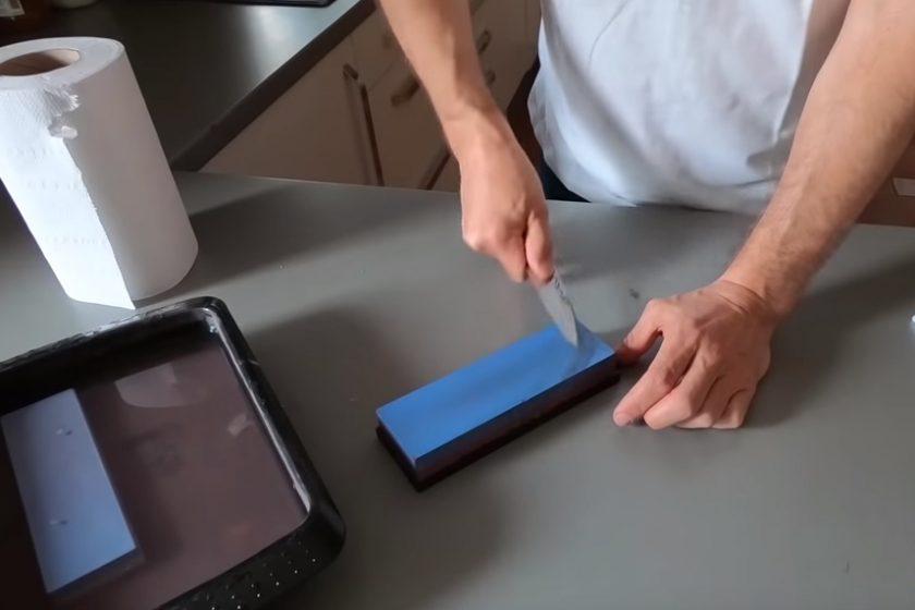 brúsenie noža