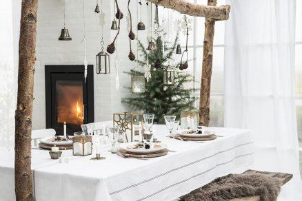 vianočné prestieranie stola