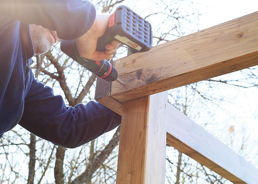 drevený altánok