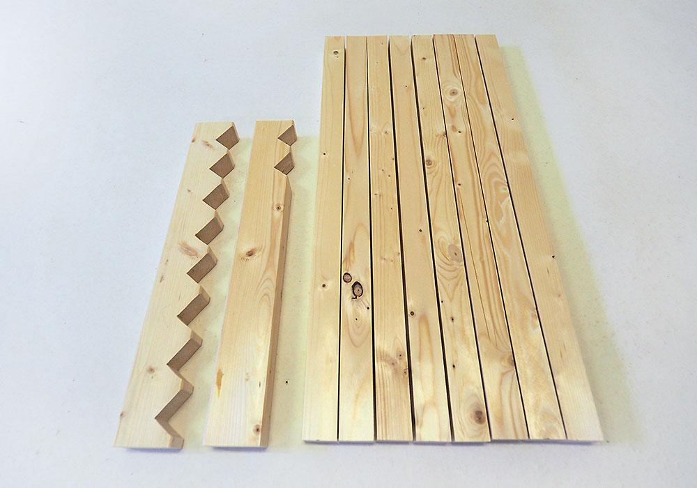 výroba drevenej rohožky