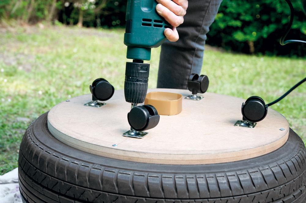 taburetka z pneumatiky