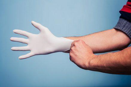 jednorazové rukavice