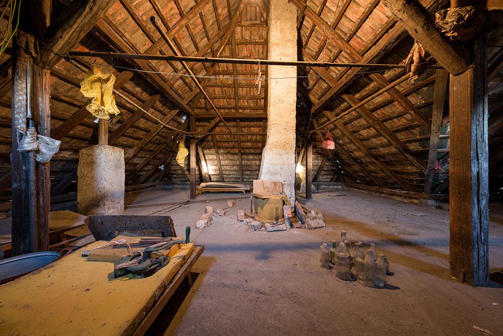 Podkrovie v pôvodnom dome