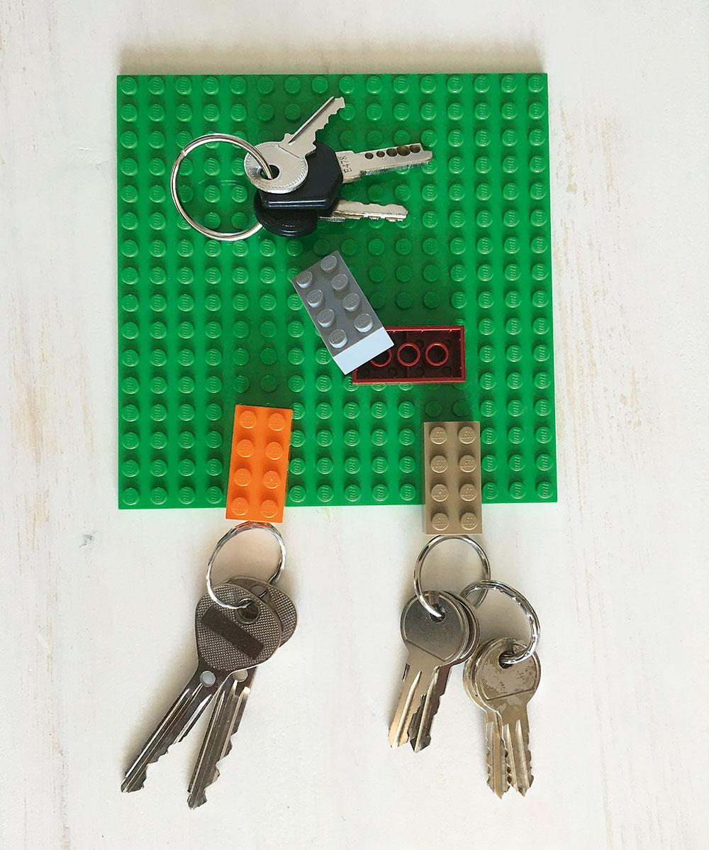 organizér na kľúče z lego stavebnice