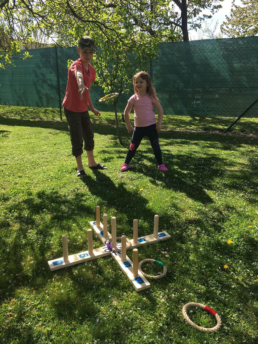 hádzacia hra do záhrady