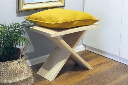 stolička z odrezkov