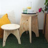 stolička z preglejky