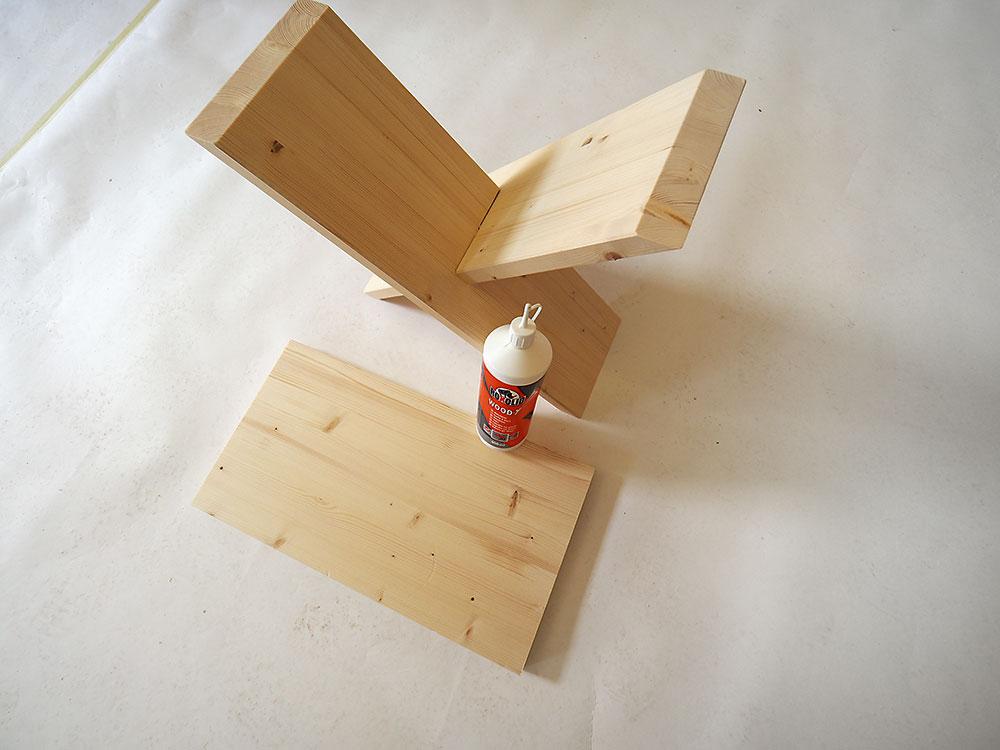výroba stoličky z odrezkov