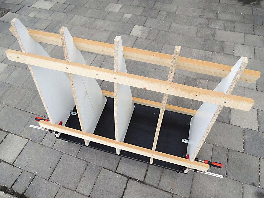 výroba vozíku na odrezky
