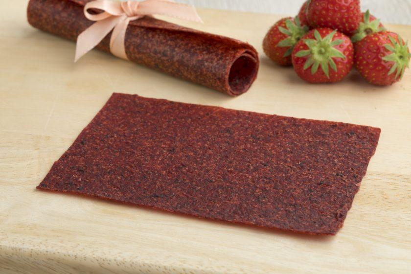 jahodová ovocná koža