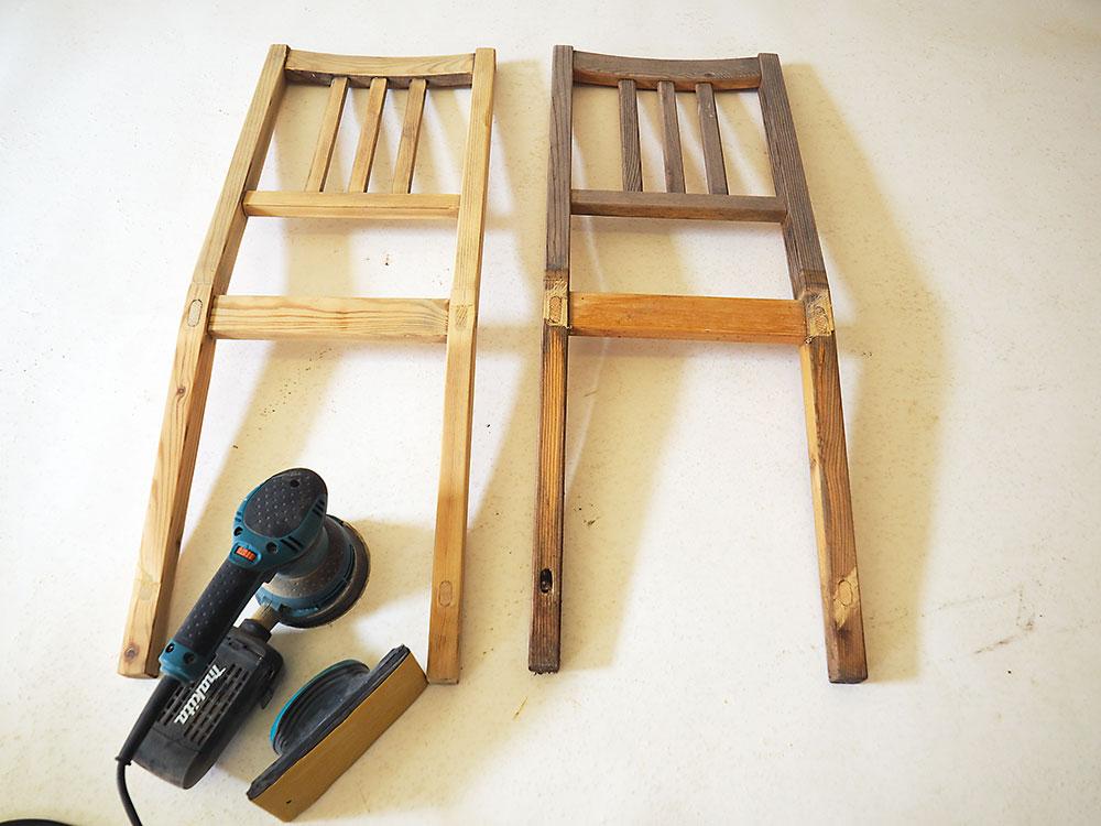 brúsenie starých stoličiek