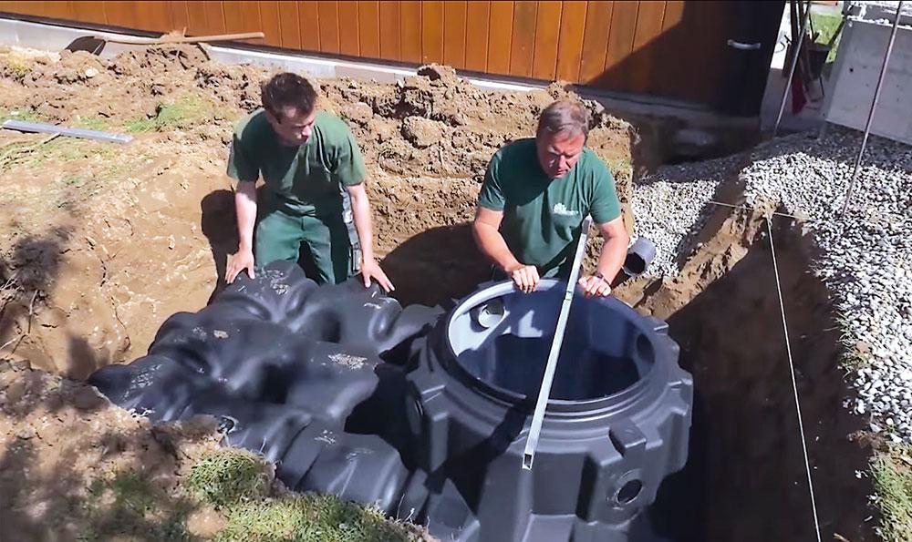 Inštalácia podzemnej nádrže na dažďovú vodu