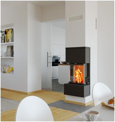 Moderné krbové kachle predstavujú kvalitu a aj dizajnový prvok interiéru Schiedel Kingfire Grande