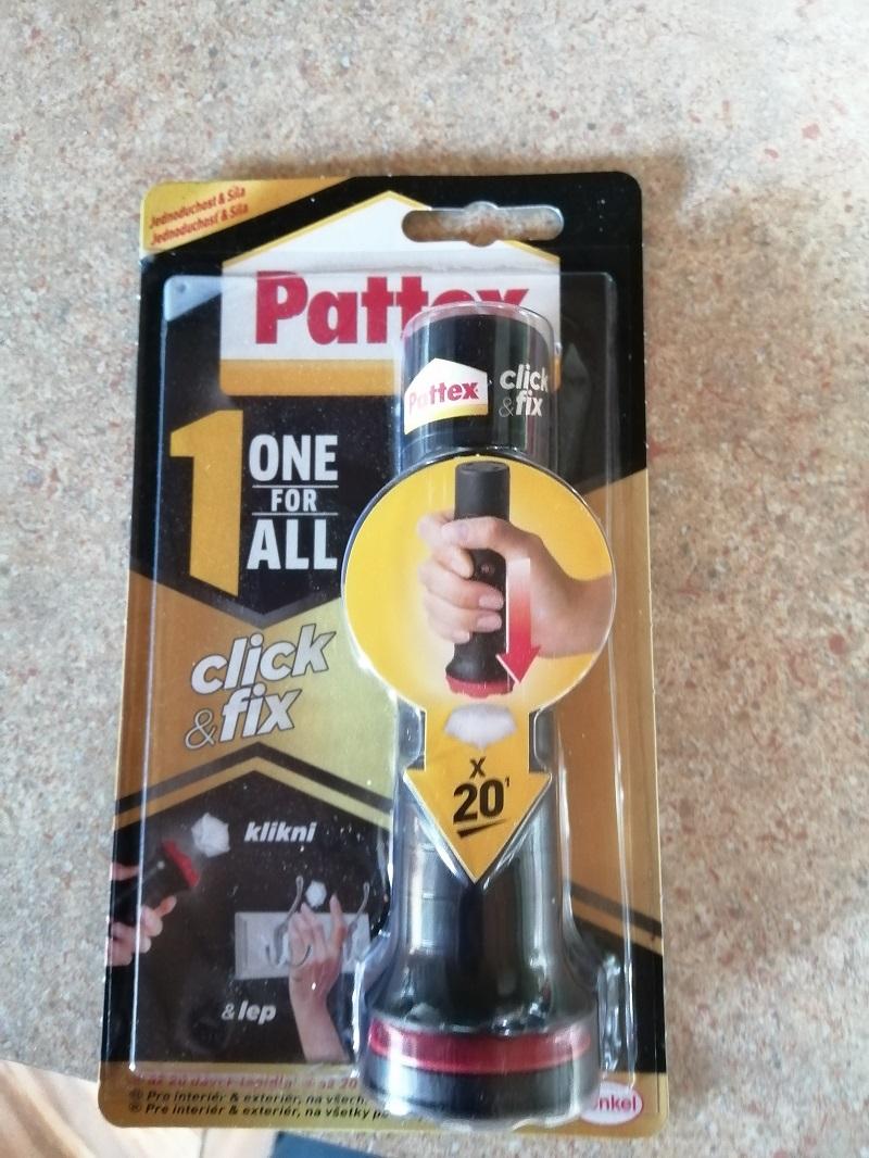 montážne lepidlo Pattex Click & Fix s vlastnou spúšťou