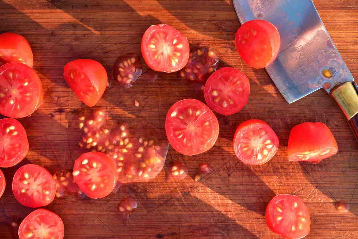 rozkrojene paradajky