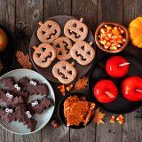 halloweenské sušienky v tvare tekvice