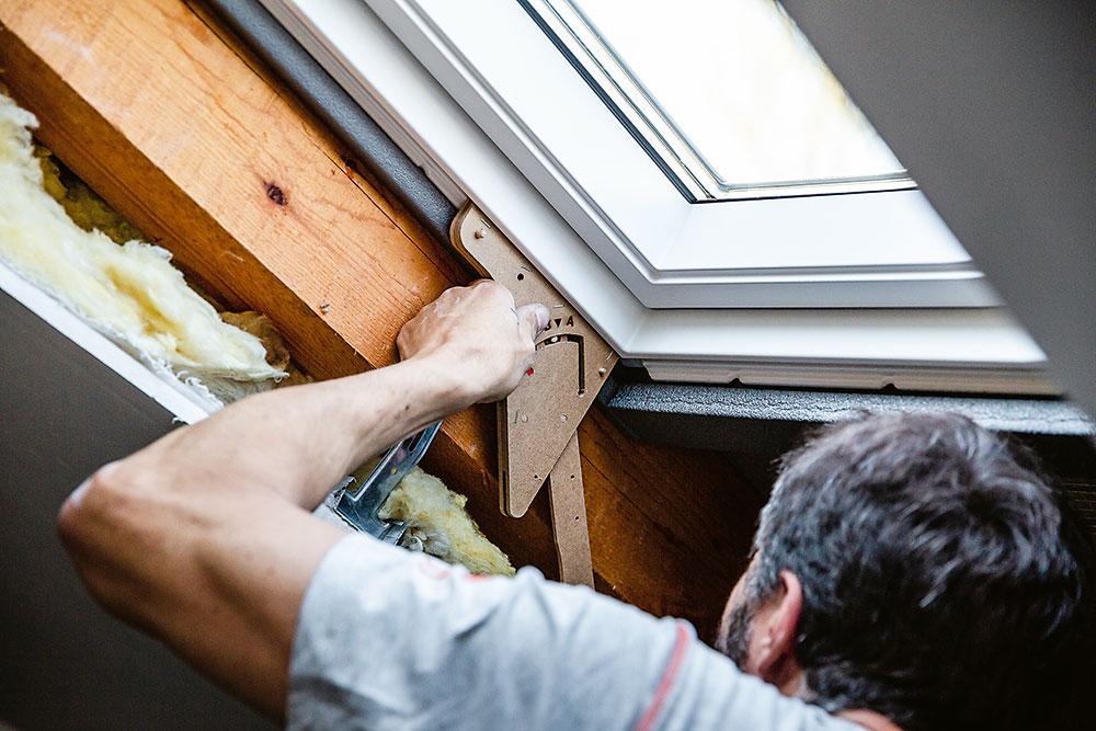 Montáž strešného okna