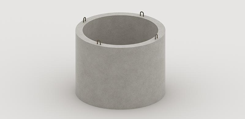vstupné betónové hrdlo