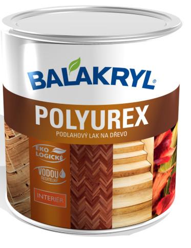 Balakryl Polyurex je bezfarebný vodouriediteľný polyuretánový podlahový lak na nové a renovačné nátery všetkých druhov drevených podláh (drevo, korok a podobne). Je protišmykový a ideálny do priestorov s vysokým zaťažením.