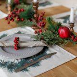 výzdoba vianočného stola