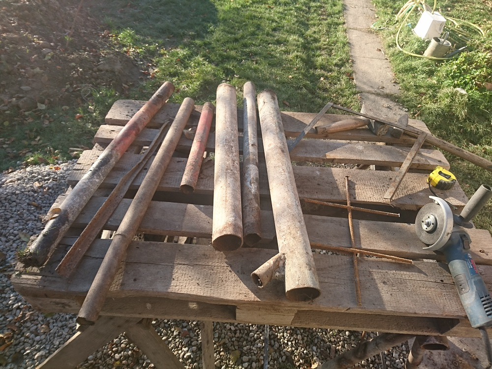 pracovné kozy z kovového odpadu