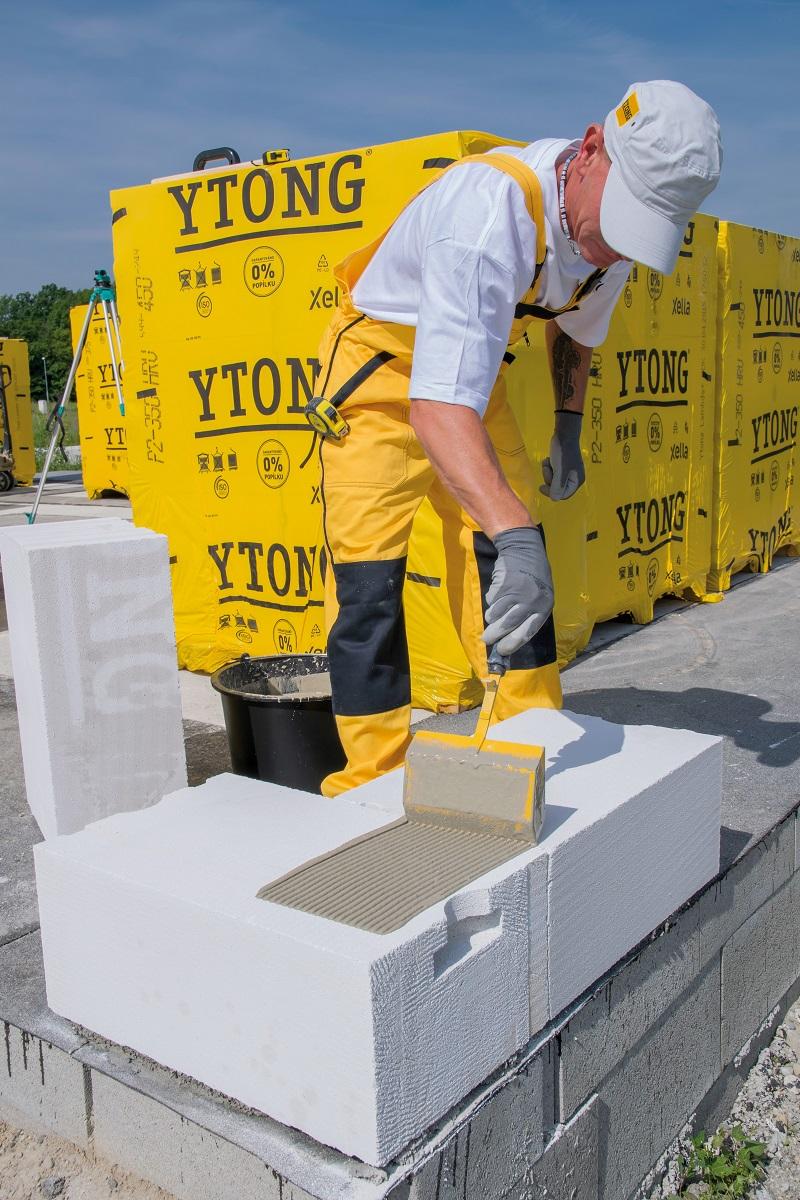 murovanie obvodového nosného muriva Ytong