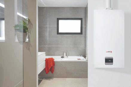 Kondenzačný kotol v kúpeľni