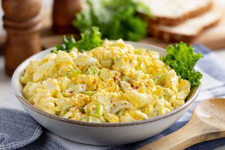 domáci vajíčkový šalát