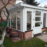 altánok prerobený na skleník