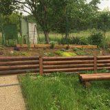 záhradné palisády z guľatiny